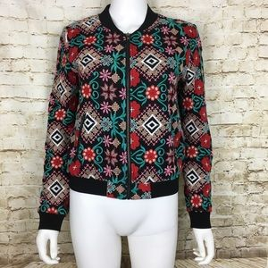 Lucy Paris Women's Bomber Jacket Embroidered